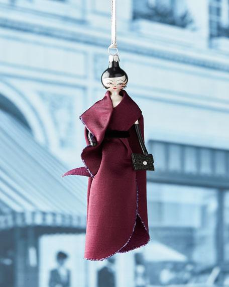 De Carlini Patricia Purple Gown Ornament