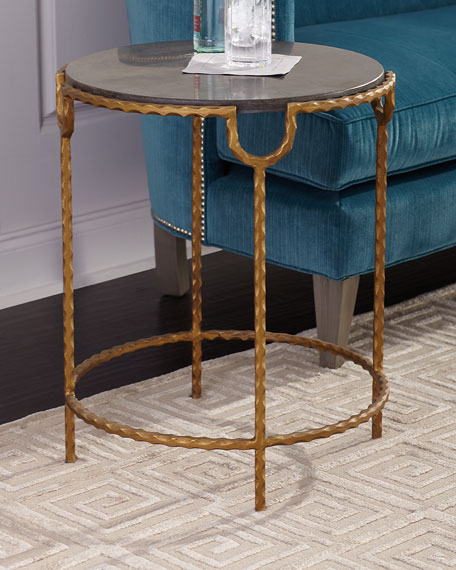 Tiffany Marble-Top Side Table