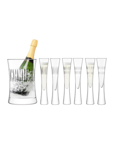 Moya Champagne Flutes & Matching Champagne Bucket