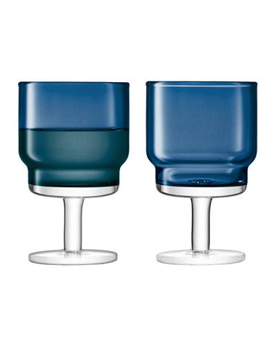 Sapphire Utility Wine Glasses, Set of 2