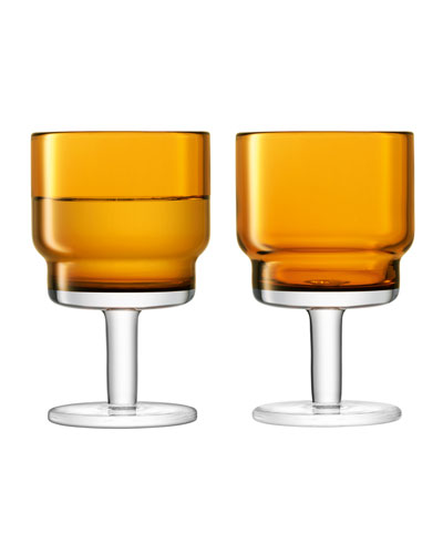 Amber Utility Wine Glasses, Set of 2