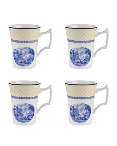 Giallo Cottage Mugs, Set of 4