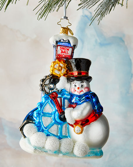 Christopher Radko Gearing Up For Christmas Ornament