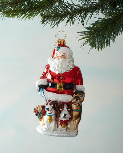 Promenading Pups Ornament