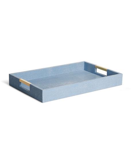 AERIN Modern Shagreen Desk Tray