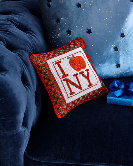 Sudha Pennathur I 'Apple' NY Pillow