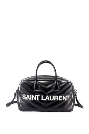 Saint Laurent Extra Large Logo Bowler Duffel Bag