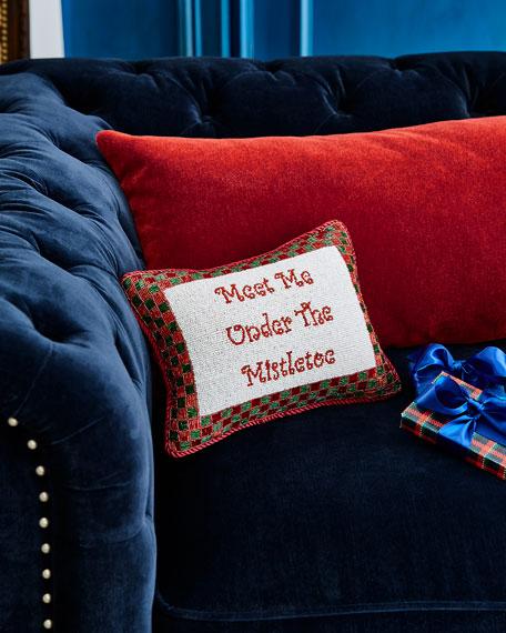 Sudha Pennathur Meet Me Under the Mistletoe Pillow