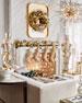 Sudha Pennathur Beaded Gold Tissue Stocking