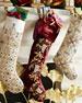 Sudha Pennathur Burgundy Velvet Stocking