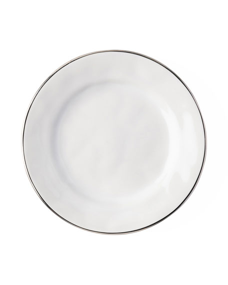 Juliska Puro Side/Cocktail Plate with Platinum Rim