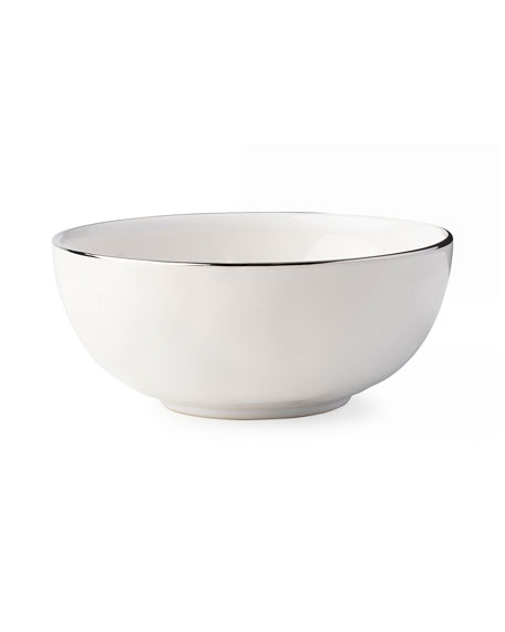 Image 1 of 2: Puro Cereal/Ice Cream Bowl with Platinum Rim