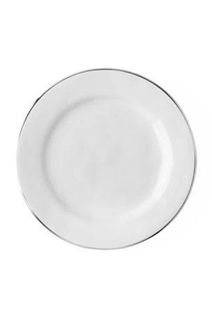 Juliska Puro Dessert/Salad Plate with Platinum Rim