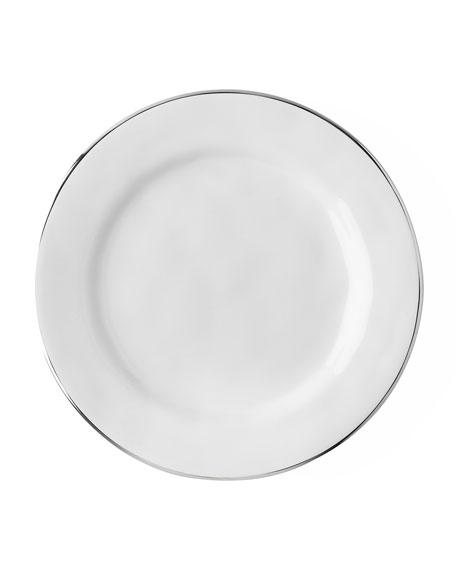 Juliska Puro Dessert/Salad Plate with Platinum Rim