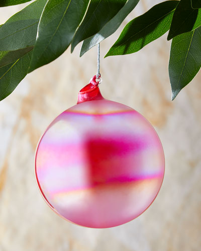 100mm Pearl Glass Ball Red Christmas Ornament