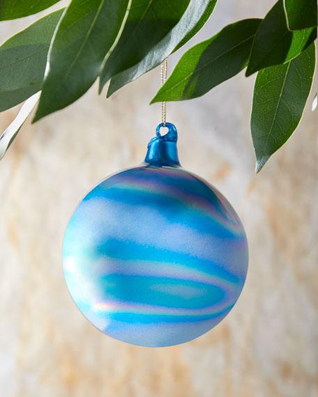 100mm Murano Iridescent Glass Christmas Ornament