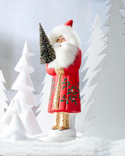 Red Santa with Tree