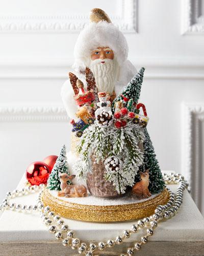Gold Deco Santa