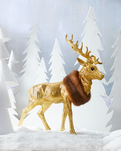 Gold Reindeer Christmas Collectible