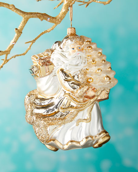 Santa with Tree Christmas Ornament