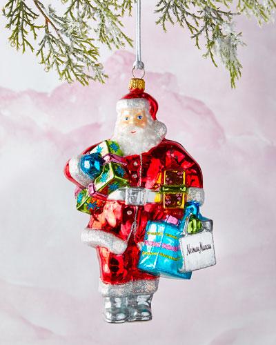 NM Shopping Bag Santa Ornament