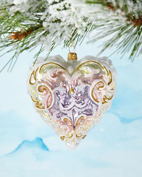 Wedding Heart Christmas Ornament