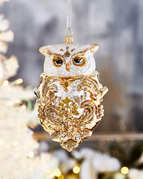 Royal Owl Christmas Ornament