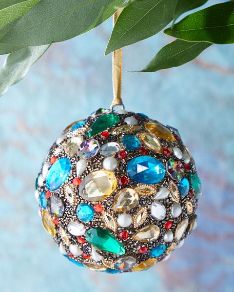 Beaded Ball Christmas Ornament