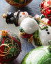 Snowman With Snowball Christmas Ornament