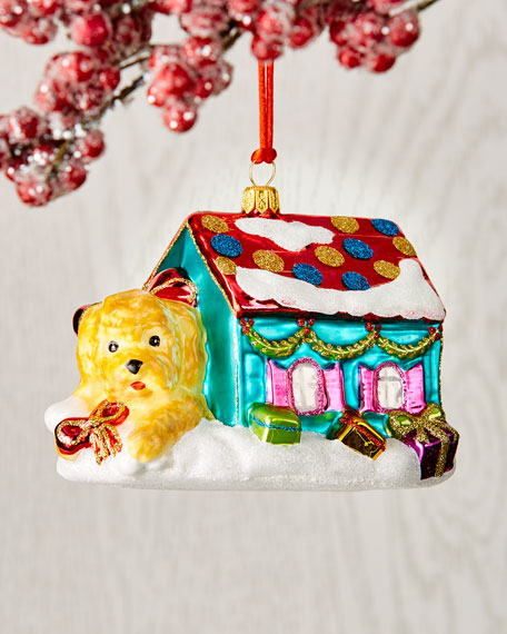 Dog In House Christmas Ornament