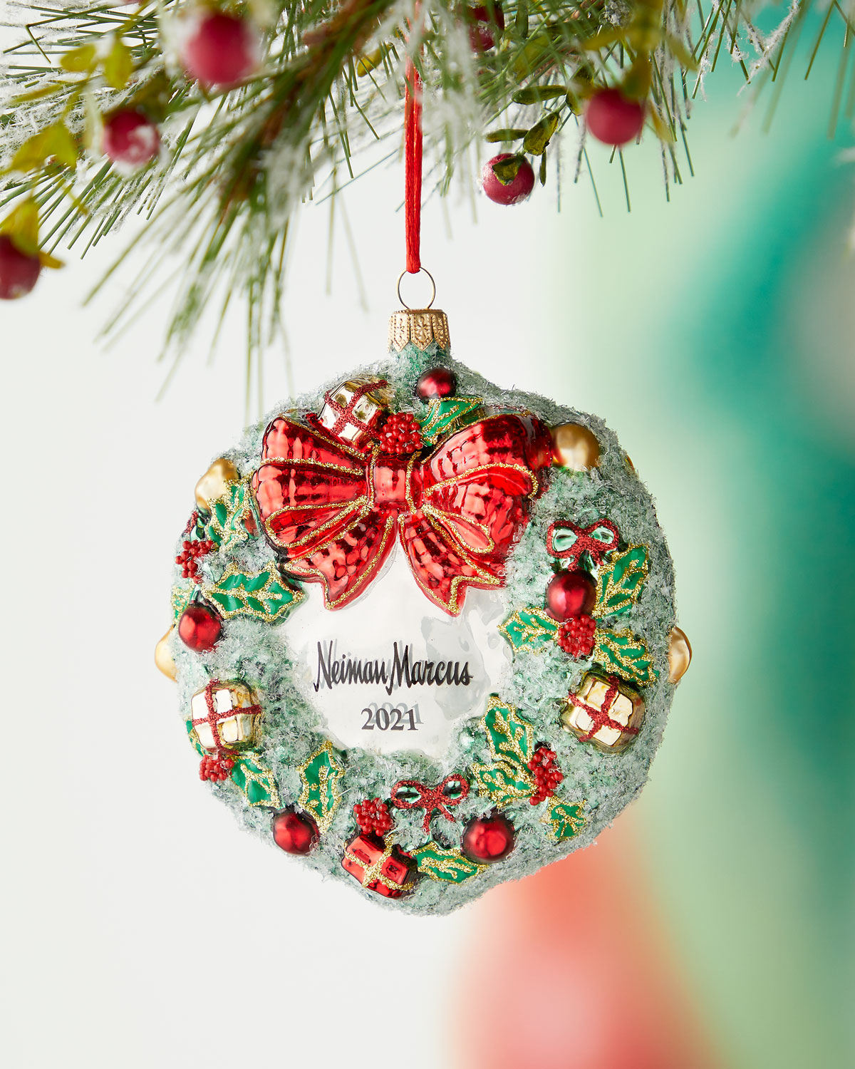 Wreath With Presents Nm 2019 Christmas Ornament Neiman Marcus