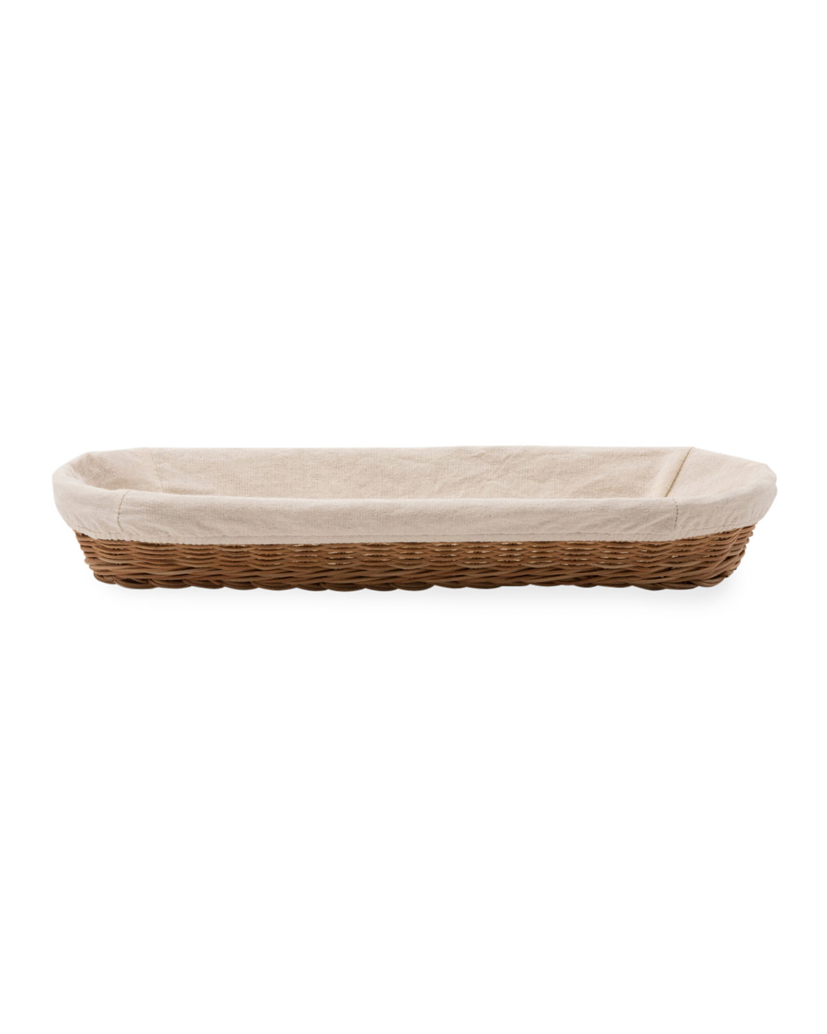 Blue Pheasant Lasata Large Oblong Rattan Tray with Liner