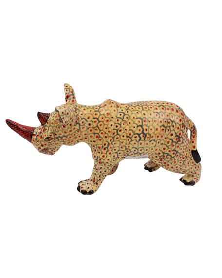 Ardmore Ceramic Art Rhino Figurine