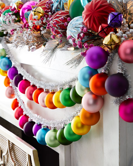 Cody Foster & Co Rainbow and Tinsel Large Silver Garland