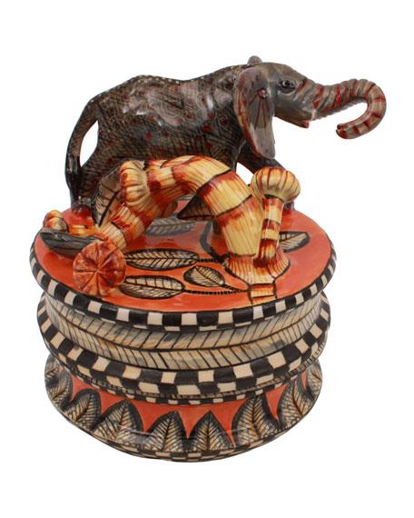 Ardmore Ceramic Art Elephant Box