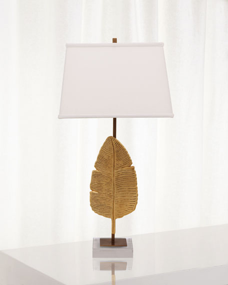 Image 2 of 2: Port 68 Biscayne Gold Table Lamp