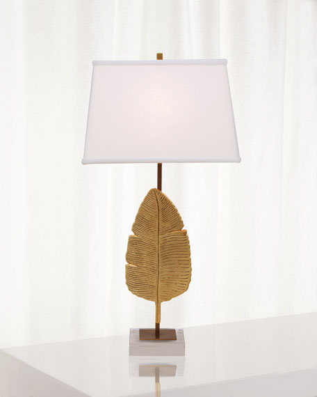 Image 1 of 2: Port 68 Biscayne Gold Table Lamp