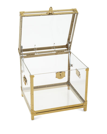 Regina Andrew Design Oceane Acrylic Trunk Side Table