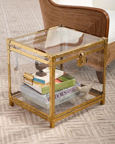 Oceane Acrylic Trunk Side Table