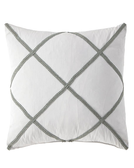 "Austin Horn Collection Hannah Decorative Pillow, 18""Sq."