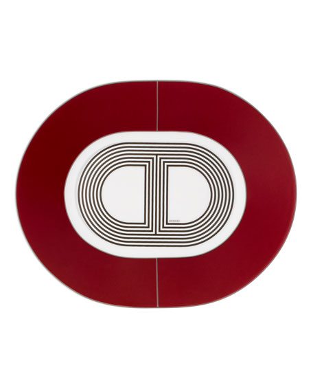 Hermès Rallye Small Oval Plate