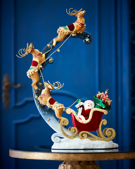 Katherine's Collection Santa Around The World Ornament Holder