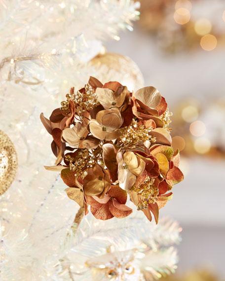 Katherine's Collection Christmas Gold Hydrangea Stem