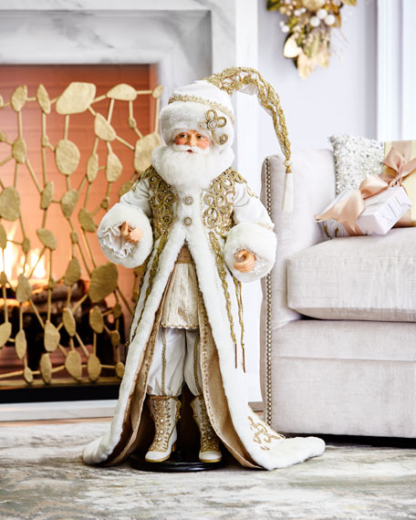 """Katherine's Collection Thread of Gold 32"""" Santa Doll"""