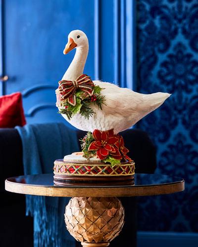 Christmas Goose Tabletop Decor