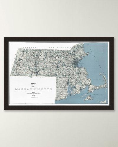Chart of Massachusetts and Coast