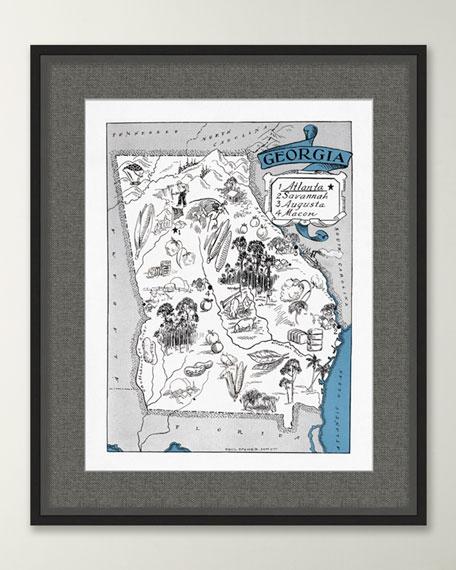 Pictorial Map of Georgia