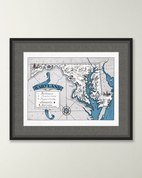 Pictorial Map of Maryland