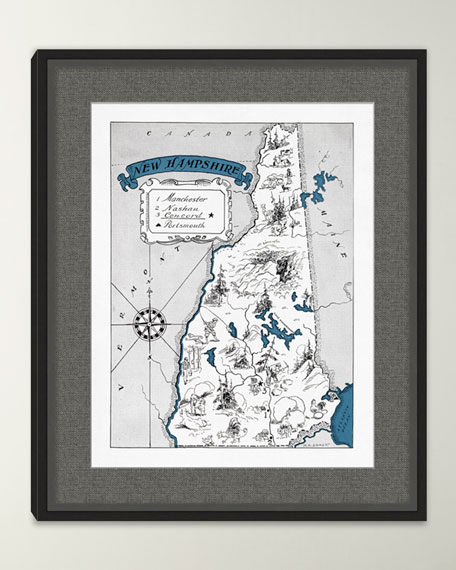 Pictorial Map of New Hampshire
