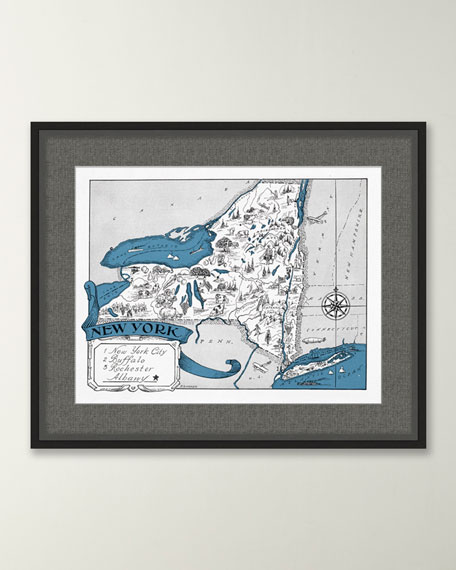 Pictorial Map of New York